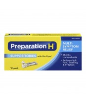 Preparation H Suppositories with Bio-Dyne