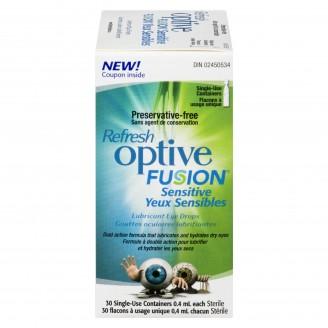 Refresh Optive Fusion Sensitive Lubricant Eye Drops