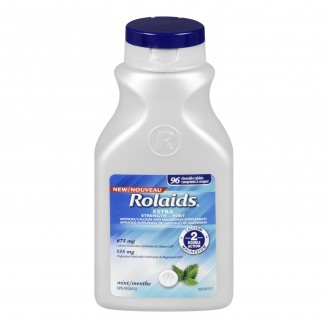 Rolaids Double Action Antacid + Mineral Supplement Chewable Tablets