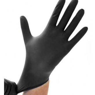 Safe-Sense Black Nitrile Powder Free Gloves - Small
