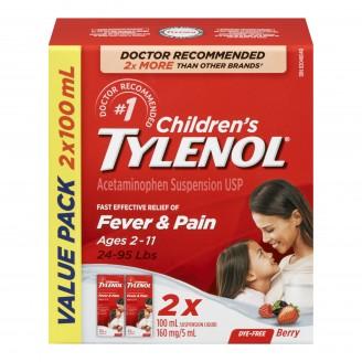 Tylenol Children's Fever & Pain Relief Liquid Value Pack