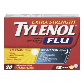 Tylenol Extra Strength Flu Daytime/Nighttime Convenience Pack