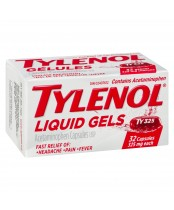 Tylenol Liquid Gels (32 Capsules), Fast Relief of Headache, Pain, Fever