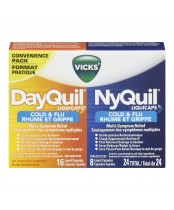 Vicks DayQuil NyQuil Cold & Flu Liquicaps Combo Pack