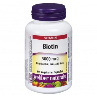 Webber Naturals Biotin 5000mcg