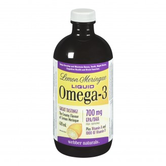 Webber Naturals Lemon Meringue Liquid Omega-3 With Vitamins A & D