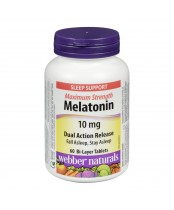 Webber Naturals Maximum Strength Melatonin Bi-Layer Tablets