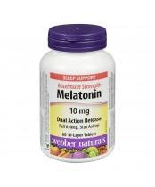 Webber Naturals Maximum Strength Melatonin Bi-Layer Tablets