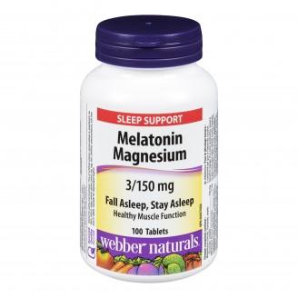Webber Naturals Melatonin Magnesium Tablets