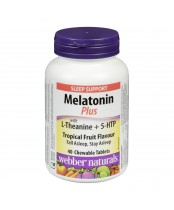 Webber Naturals Melatonin Plus Chewable Tablets