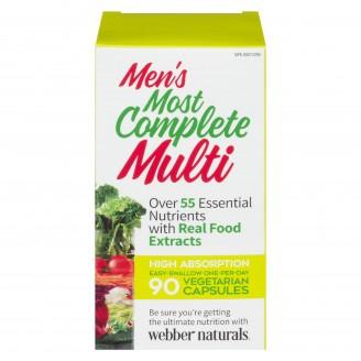 Webber Naturals Most Complete Multi Vitamin For Men 90