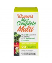 Webber Naturals Most Complete Multi Vitamin For Women 90 Capsules