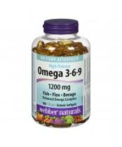 Webber Naturals Omega 3-6-9 High Potency Clear Enteric Softgels
