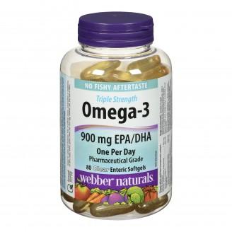 Webber Naturals Omega-3 Clear Enteric Softgels