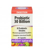 Webber Naturals Probiotic 30 Billion Capsules