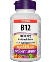 Webber Naturals Vitamin B12 1000 mcg Methylcobalamin