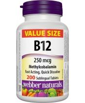 Webber Naturals Vitamin B12 250 mcg Methylcobalamin