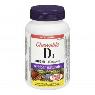 Webber Naturals Vitamin D3 Chewable Tablets