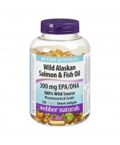 Webber Naturals Wild Alaskan Salmon & Fish Oil Clear Enteric Softgels