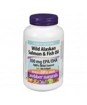 Webber Naturals Wild Alaskan Salmon & Fish Oil Softgels Bonus Size